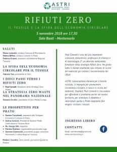 Rifiuti Zero - 5 novembre 2018